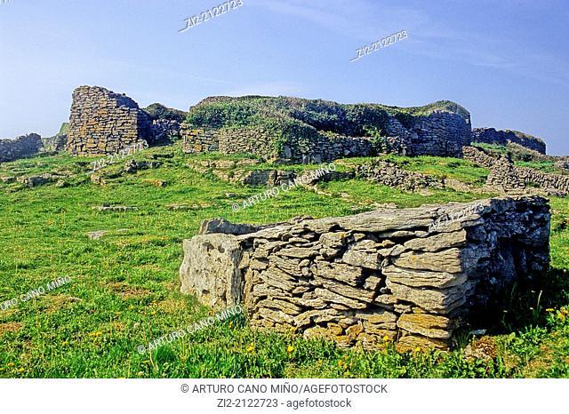 Dun Chonchuir is a prehistoric fort. Inishmaan, Aran Islands, Republic of Ireland