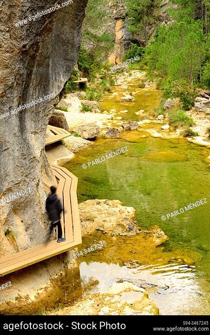 Gorge of Matarraña river near Beceite, Teruel, Aragon, Spain