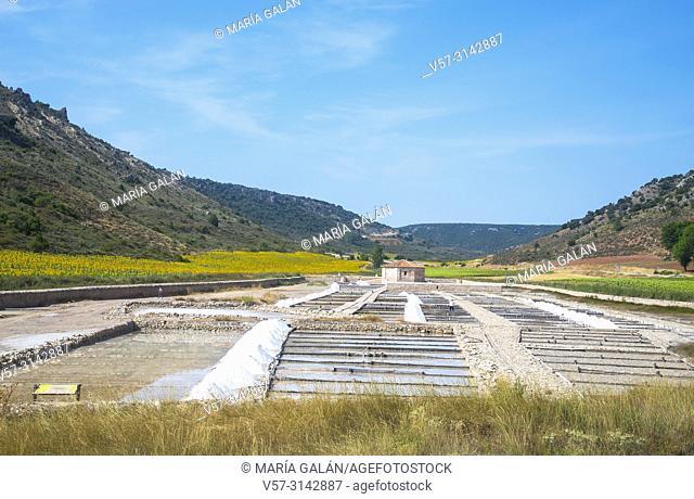 Salt works. Saelices de la Sal, Guadalajara province, Castilla La Mancha, Spain