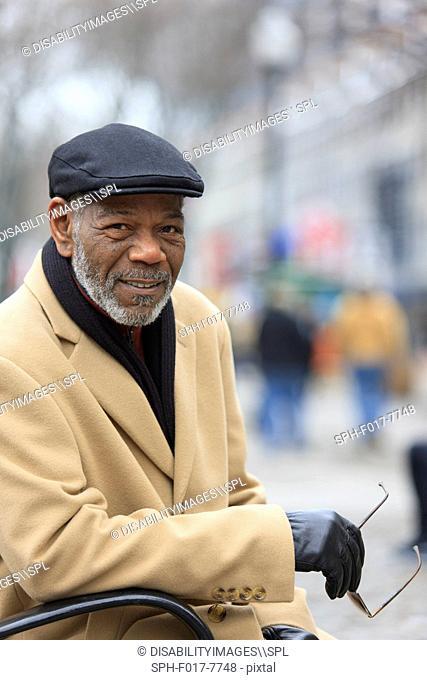 Portrait of a man smiling, Boston, Suffolk County, Massachusetts, USA