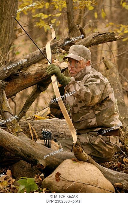 Big Game Hunter Shoots Longbow
