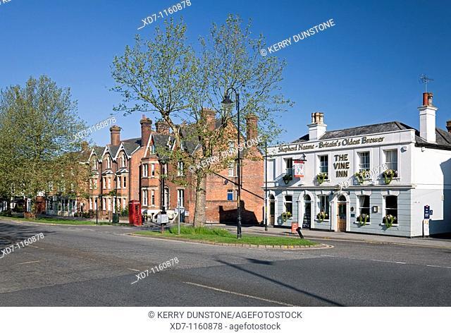 England Kent Tenterden High Street and 'The Vine Inn' public house