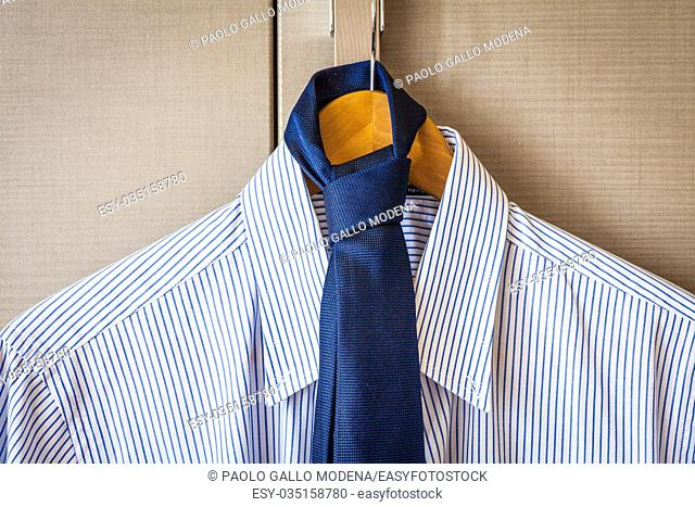 Italian business shirt detail, concept related to business trips