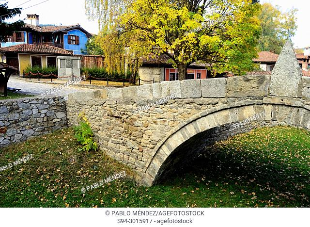 Bridge in rustic town, Koprivstica, Bulgaria