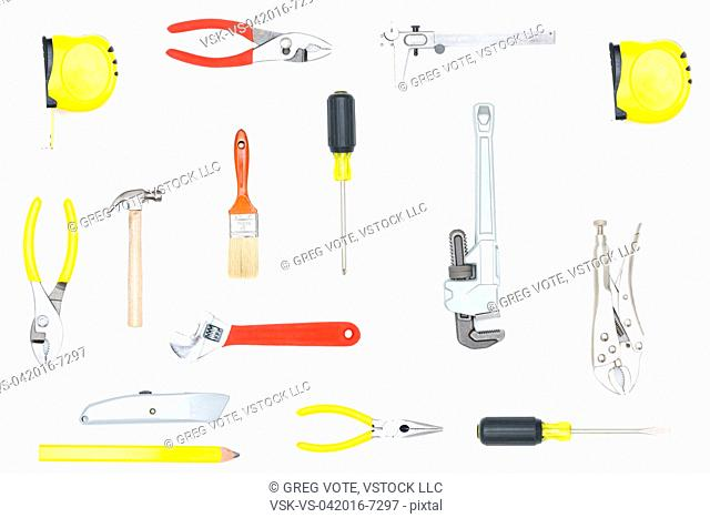 Tools against white background