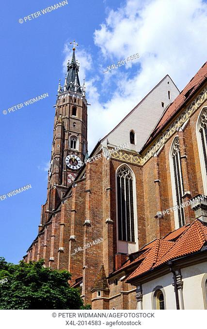 Basilica of St. Martin in Landshut, Bavaria, Lower Bavaria, Germany, Europe