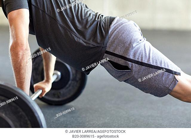 Barbells, Fitness center, Gym, Donostia, San Sebastian, Gipuzkoa, Basque Country, Spain, Europe