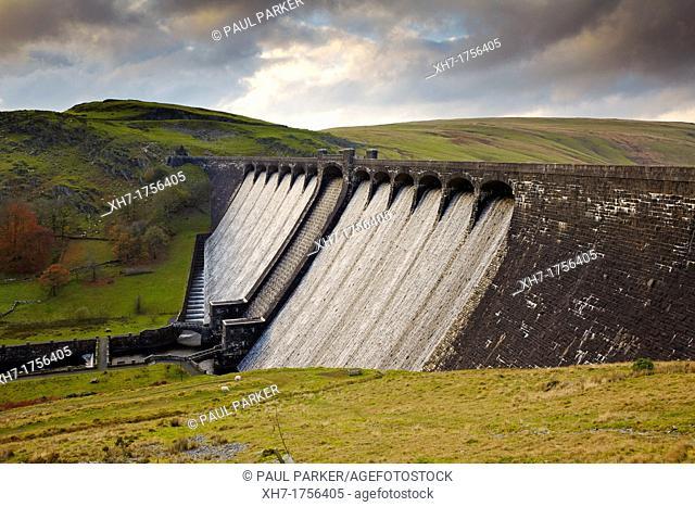 Claerwen Dam, Elan Valley, Mid Wales, UK