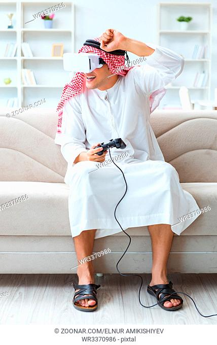 Arab man addicted to video games