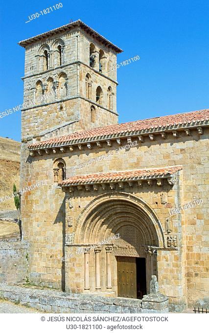 San Pedro collegiate, in Cervatos village, Campoo de Enmedio, considered as one of the most important romanesque churches of Cantabria and specially known for...