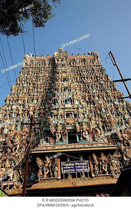 Meenakshi Sundareswarar Temple, Madurai, Tamil Nadu, India, Asia