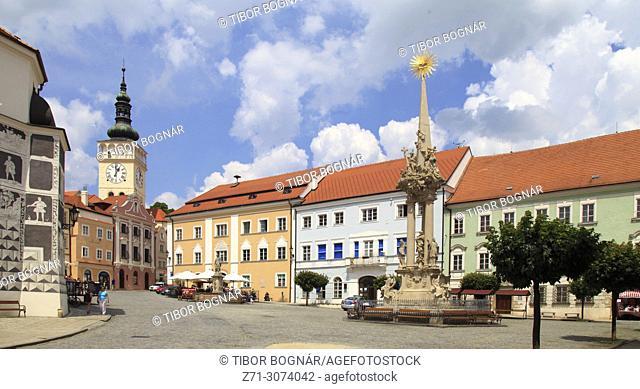 Czech Republic, Moravia, Mikulov, Historical Square,