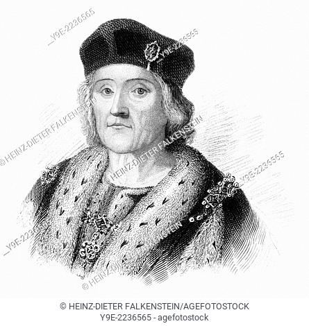 Henry VII, 1457 - 1509, King of England and Lord of Ireland,