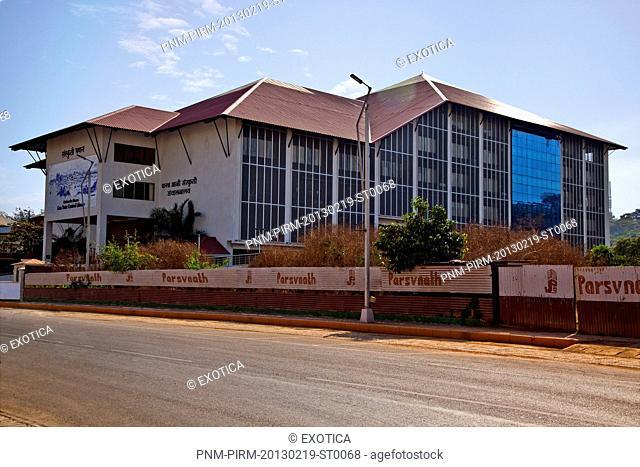 Facade of Goa State Central Library, Panaji, North Goa, Goa, India
