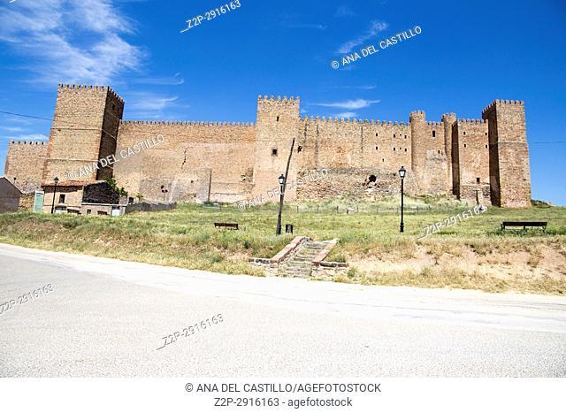 Castle in Siguenza is a medieval village in Guadalajara Castile La Mancha Spain on June 13, 2017