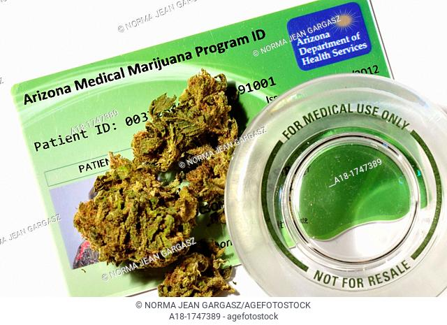 A patient identification card to legally obtain marijuana through the Arizona Medical Marijuana Program was issued by the Arizona Department of Health Services...