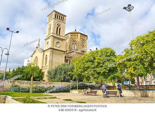 Parroquia Immaculada Concepcio i Sant Magi, Placa de la Verge del Miracle, Santa Catalina, Palma, Mallorca, Balearic islands, Spain
