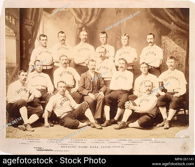 Detroit. Baseball Club, 1887, Bennett, Brouthers, Thompson, Ganzell, Twitchell, Baldwin, Briody, Dunlap, Watkins, White, Hanlon, Shindle, Getzein, Weidman