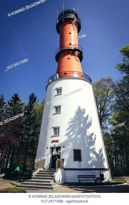 Rozewie Lighthouse - so called old lighthouse (but in fact active) in Rozewie village on the Baltic Sea coast in Pomeranian Voivodeship of Poland