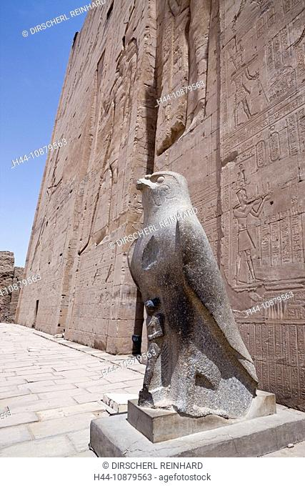Horus Statue at Temple of Horus in Edfu, Edfu, Egypt