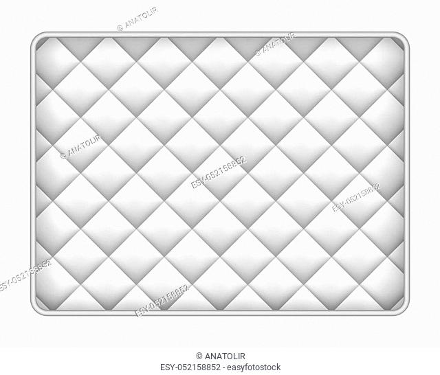 Memory foam mattress mockup. Realistic illustration of memory foam mattress mockup for web design isolated on white background