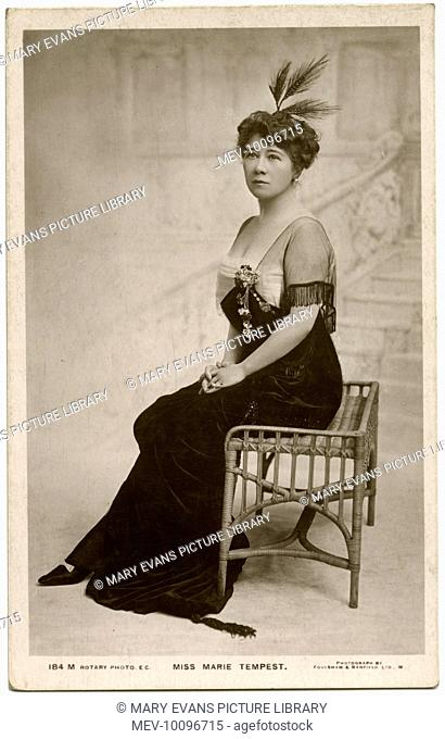 (Dame) Marie Tempest (Marie Susan Etherington) (1864 - 1942), English stage actress occasionally in films
