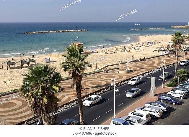 Beach view, Gordon beach, Tel Aviv, Israel