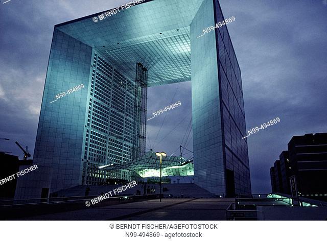 La Défense, Grande Arche, modern architecture, France