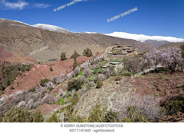 Morocco High Atlas Mountains Idni Views of Oued Nfiss River Valley