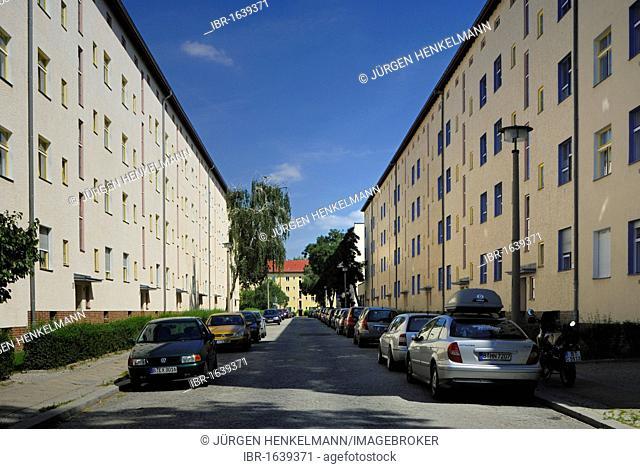 Wohnstadt Carl Legien housing estate, Berlin Modernism Housing Estates UNESCO World Heritage site, built 1928-1930 by Bruno Taut and Franz Hillinger