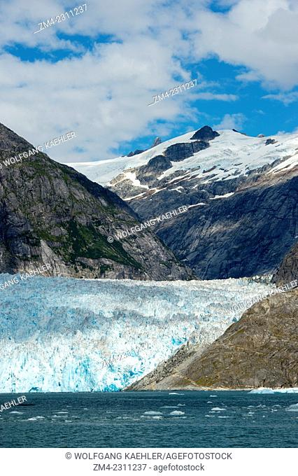 View of LeConte Glacier, a tidal glacier in LeConte Bay, Tongass National Forest, Southeast Alaska, USA