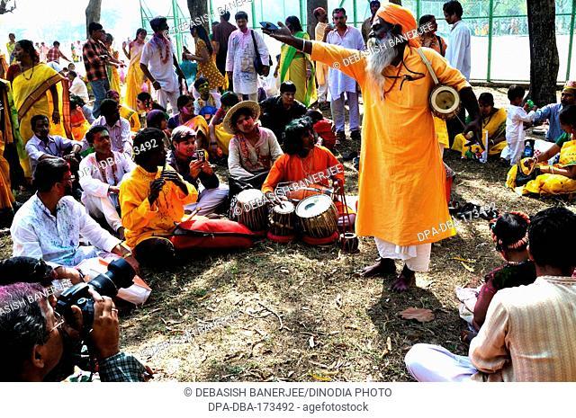 Baul singer , Shantiniketan , West Bengal , India