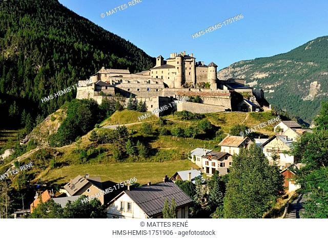 France, Hautes Alpes, Queyras Regional Natural Park, village of Chateau Queyras, castle