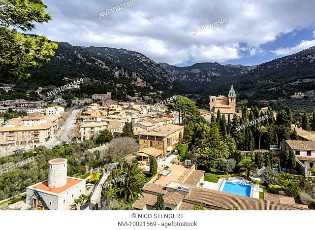 View of Valldemossa, Mallorca, Balearic Islands, Spain