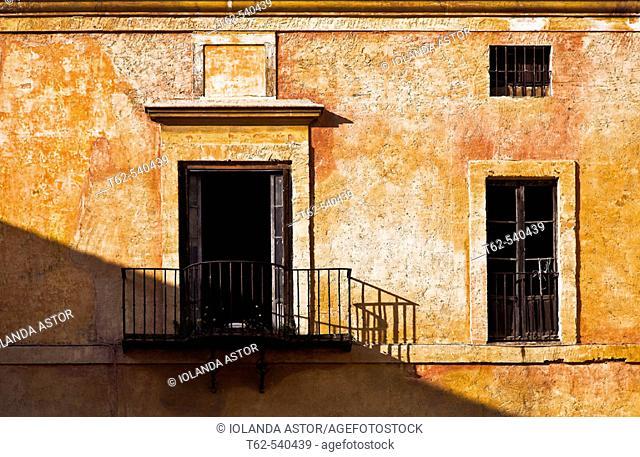 House facade. Sevilla, Andalusia, Spain