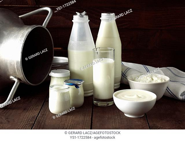 Milk Based Products, Milk, Double cream, Yoghurt, Soft cheese