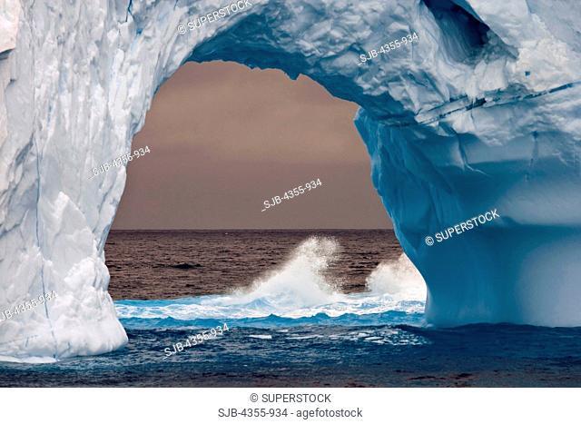 Arch in Iceberg in the Scotia Sea