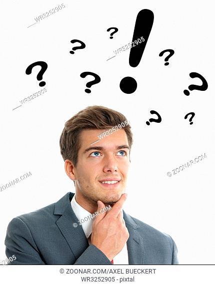 creative young business man having an idea