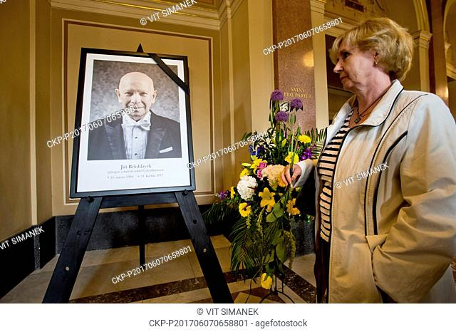 Public mourning ceremony in memory of Czech Philharmonic (CF) chief conductor Jiri Belohlavek, who died last week, in Rudolfinum, Czech Republic, June 7, 2016