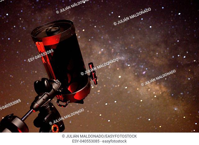Smith Cassegrain telescope prepared for an observation