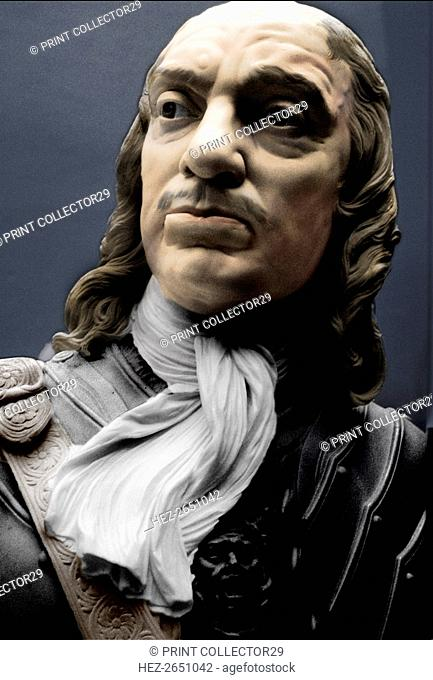 Bust of Lord Protector Oliver Cromwell, 1860. Artist: Matthew Noble