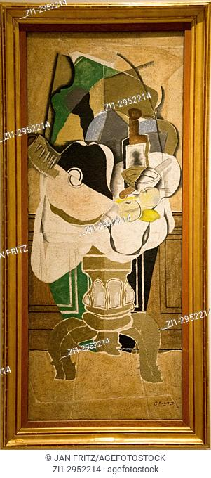 ' still life on a table ' by George Braque in National Museum in Copenhagen, Denmark