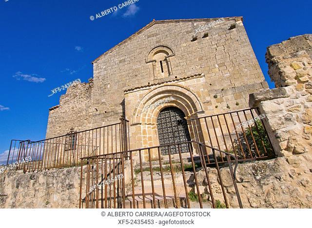 San Frutos del Duraton Hermitage, Hoces del Río Duratón Natural Park, Duratón River Gorges, Segovia, Castilla y León, Spain, Europe