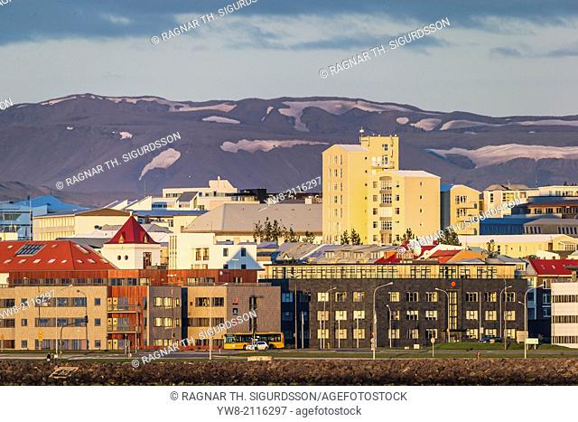 Commercial and Apartment buildings, Reykjavik Iceland