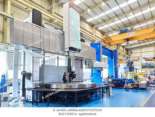 Three-dimensional measurement system, Machining Centre, CNC, Vertical lathe, Design, manufacture and installation of machine tools, Gipuzkoa, Basque Country