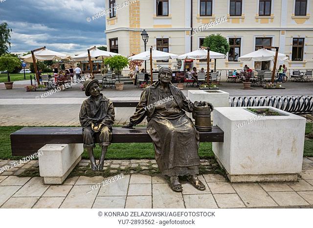 Bronze statues in Alba Carolina Fortress in Alba Iulia city located in Alba County, Transylvania, Romania