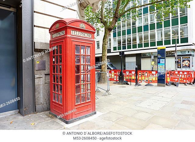 A public call-box in Holborn. London. United Kingdom