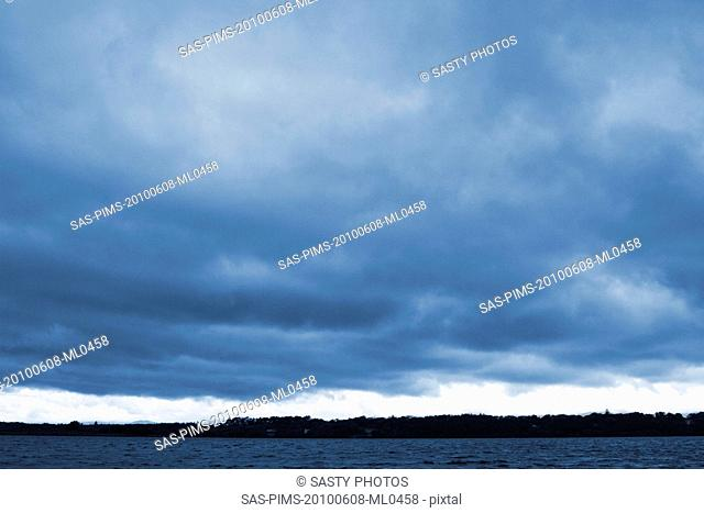 Clouds over a lake, Lakes of Killarney, County Kerry, Republic of Ireland