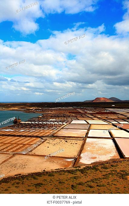 Spain, Canary islands, Lanzarote, Salinas del Janubio