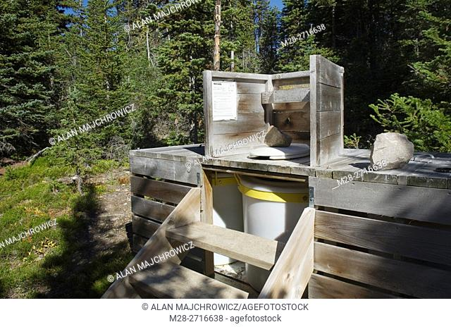 Backcountry outhouse, Tonquin Valley, Jasper National Park Alberta